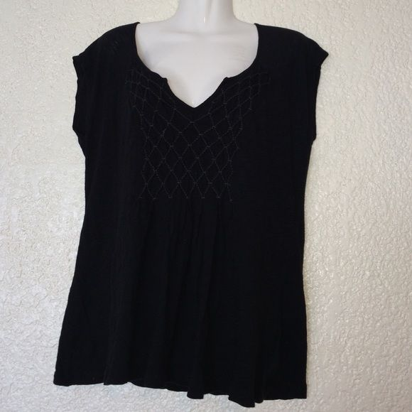 "ANTHROPOLOGIE ""Deletta""s Black Quilted Bib Top Sleeveless. 100% cotton. Anthropologie Tops Tank Tops"