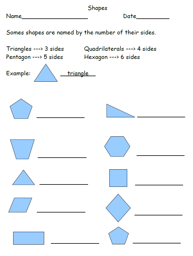 Free Shapes Worksheet 2nd Grade. Goes along with our video on our ...