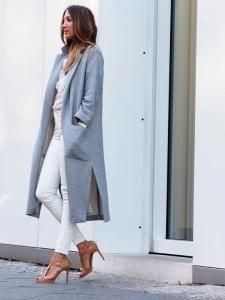 Zara Dlugi Wiosenny Plaszcz L Blogerski 6037253459 Oficjalne Archiwum Allegro Long Coat Coat Autumn Winter Fashion