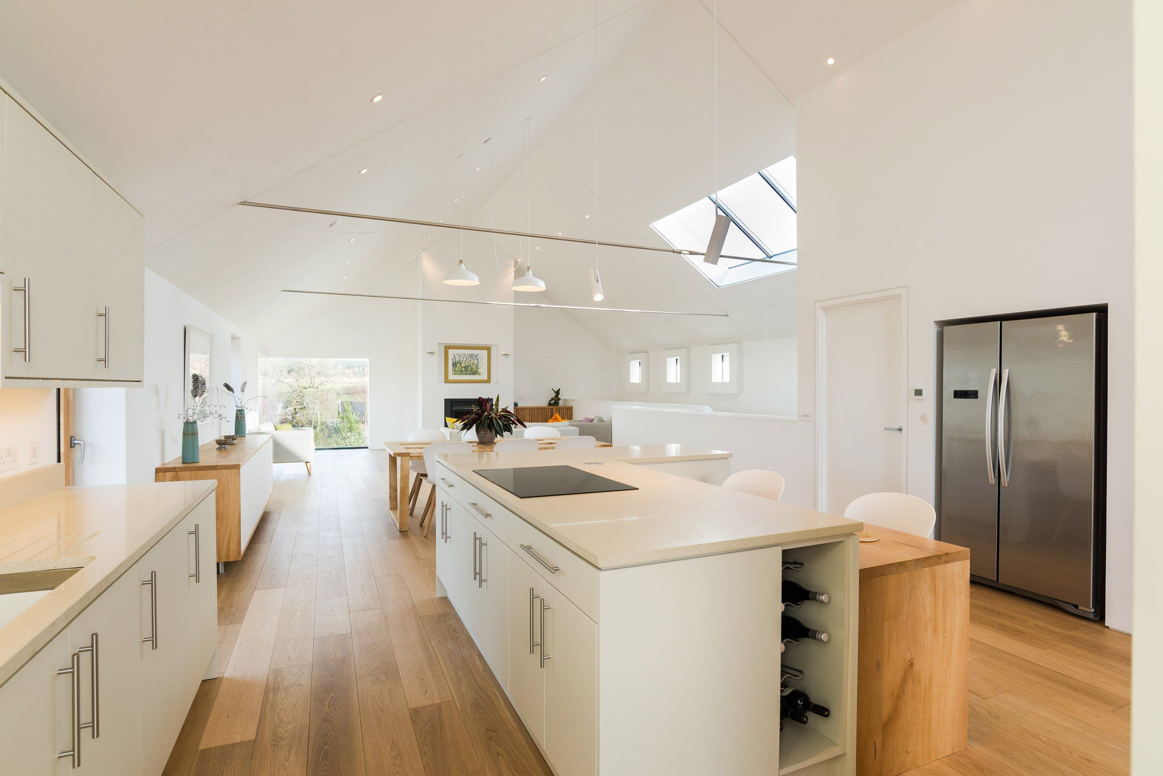 modern house interiors%0A Interiors    Richard Pender and Dan Kerr combine local materials at  selfbuilt house