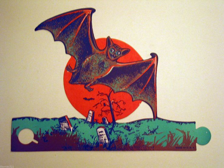 Vintage Halloween bat decor