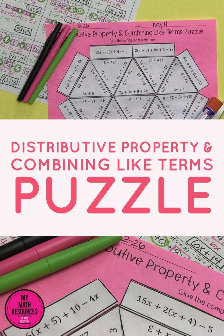 6.EE.A.3 Distributive Property & Combining Like Terms
