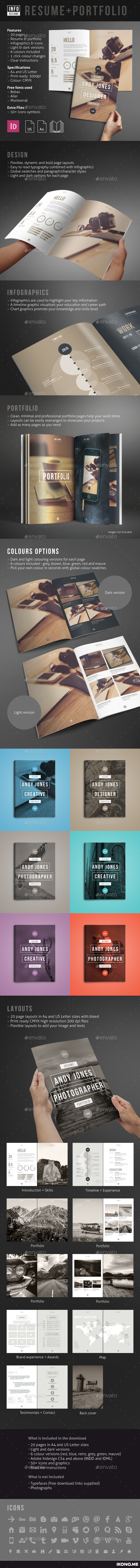 Resume And Portfolio  Adobe Indesign Adobe And Brochures