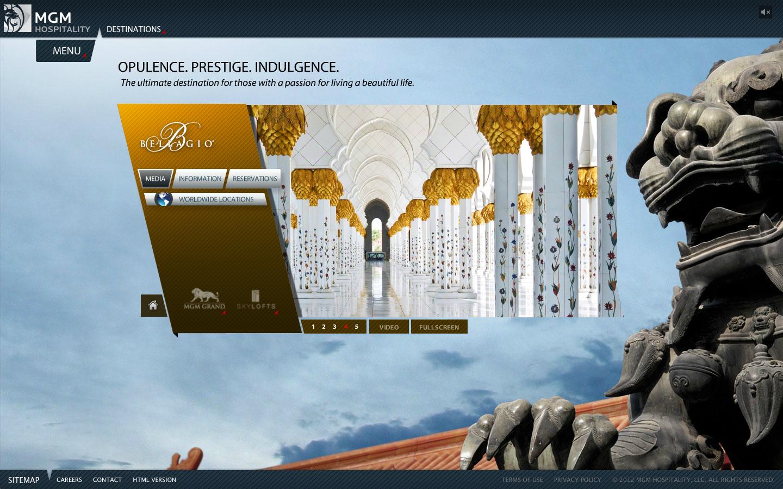 MGM Hotel. Flash web site