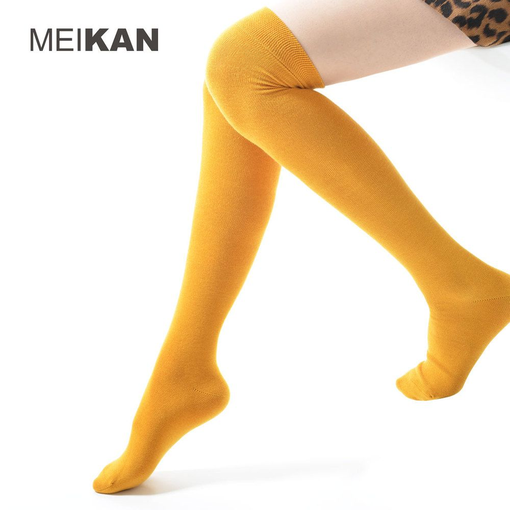 2098b4eba98 Knee High Socks Women Kawaii Cute Calcetines Cotton Harajuku Cartoon Sox  Lolita Cosplay Long chaussette Colorful Sports Stocking   Price   US  6.99    FREE ...
