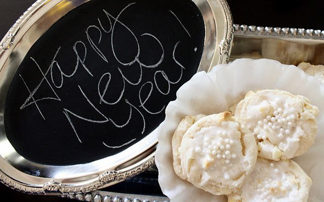 glazed champagne and white chocolate cookies from a mix