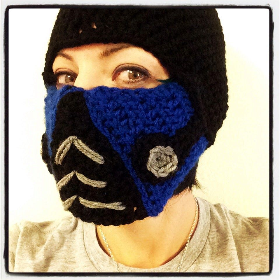 Mortal Kombat Sub Zero Ski Mask Crochet Mask Crochet Faces