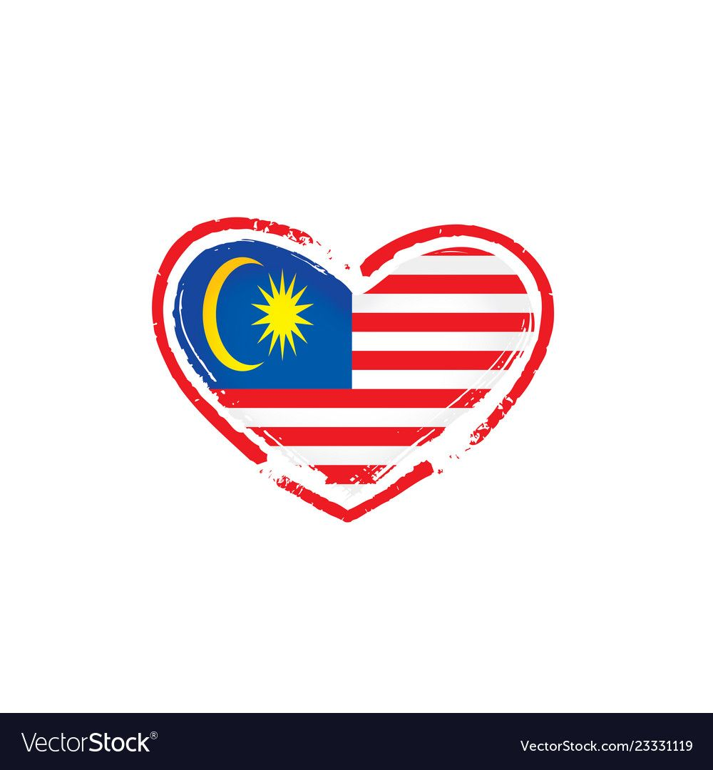 Malaysia Flag On A White Royalty Free Vector Image Aff White
