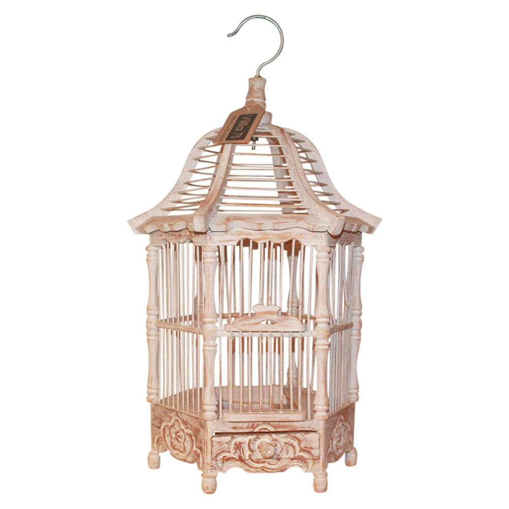 50cm wooden decorative bird cage white wash shabby chic handmade rh pinterest com