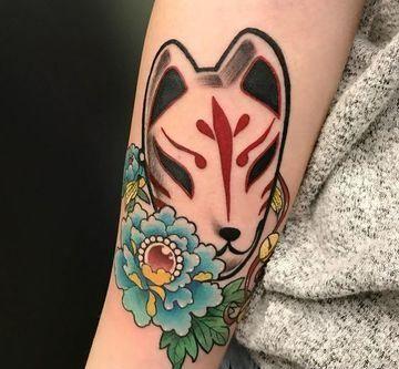 Coloridos Y Originales Tatuajes De Mascaras Japonesas Tatuajes En