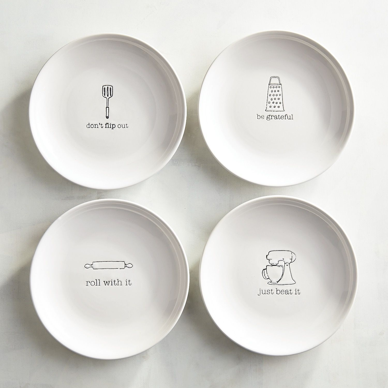 hostess appetizer plate set of 4 white dinnerware u003e accent plates rh pinterest com