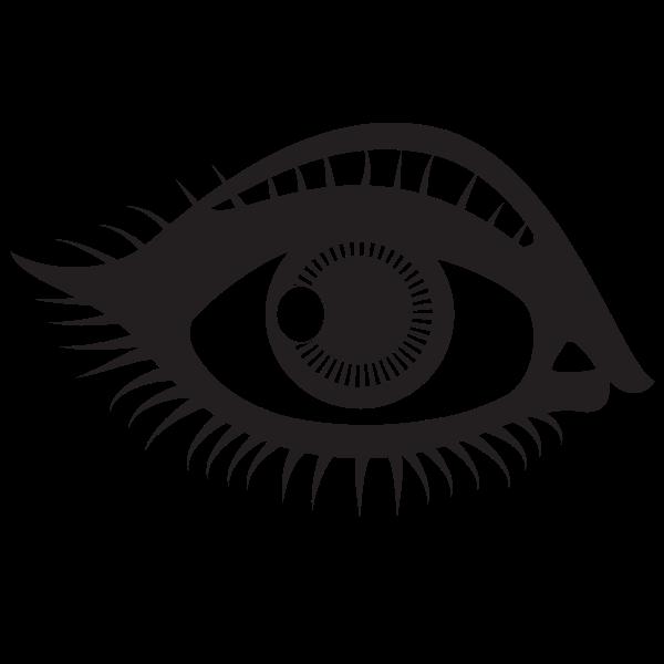 Human Eye Silhouette In 2020 Human Eye Silhouette Drawing Eye Drawing