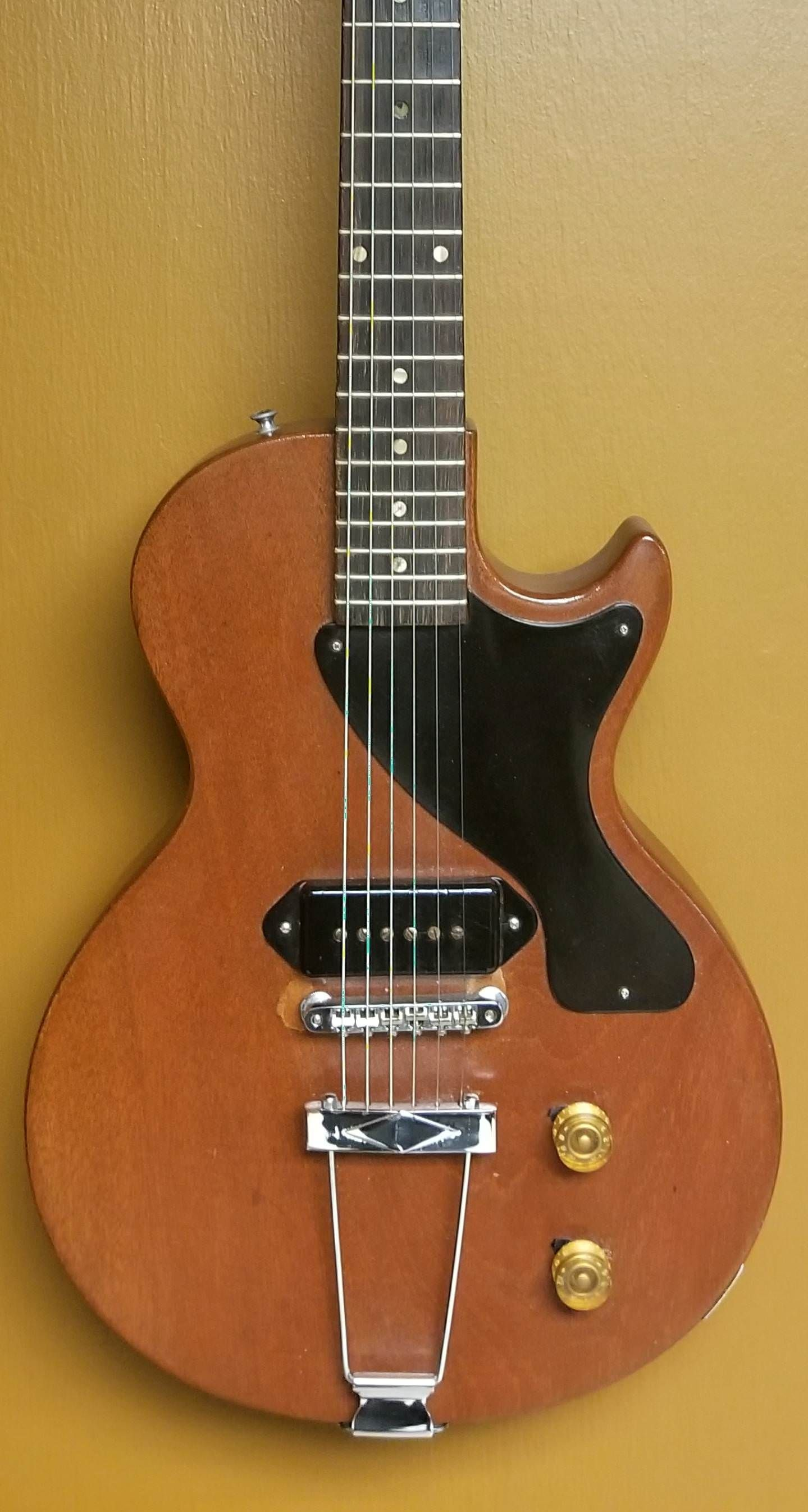 1955 Gibson Les Paul Junior (with vintage bridge and tail piece