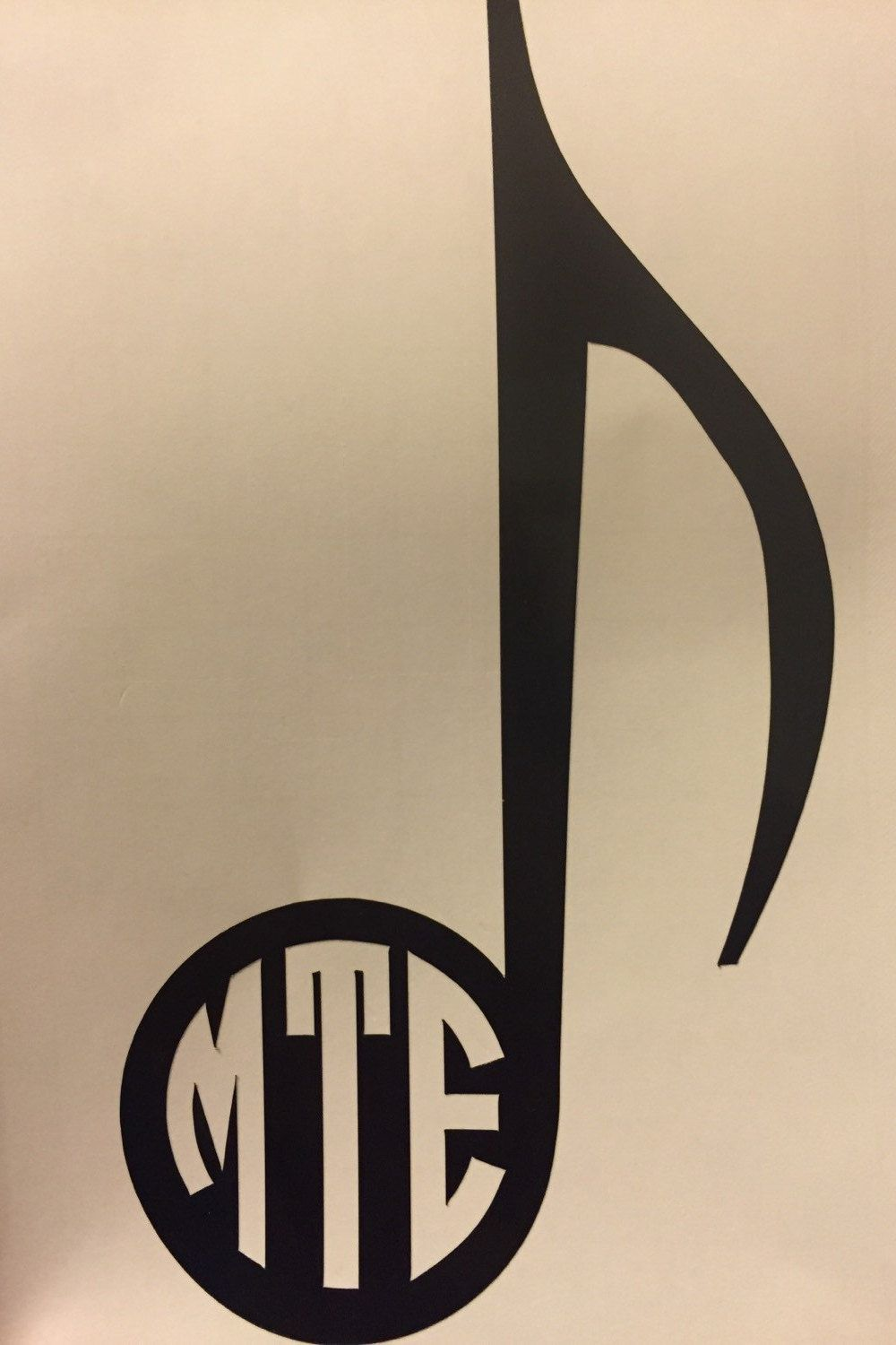 Music note monogram A must for music