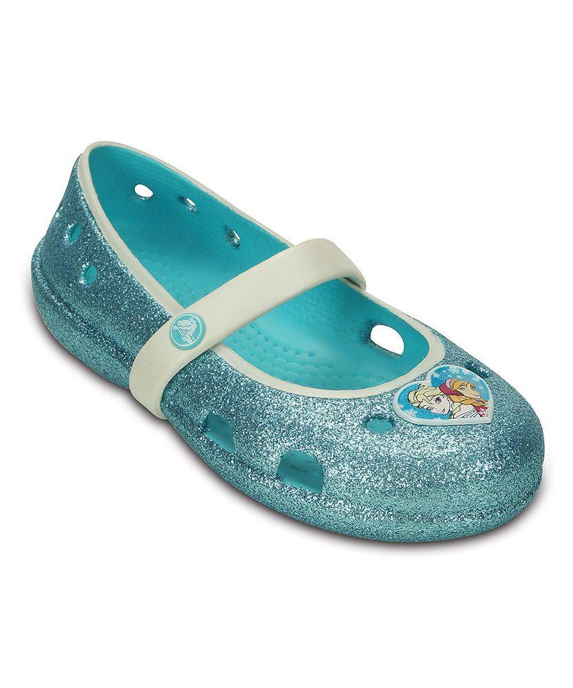 523201b9c5fd98 Crocs Croslite™ Frozen Elsa   Anna Pool Keeley Glitter Flat - Girls ...