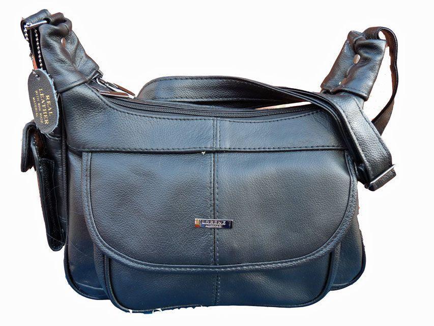 a7de248ba56d Leather Ladies Womens Handbag Black Shoulder Cross Body Bag Bags Handbags  747