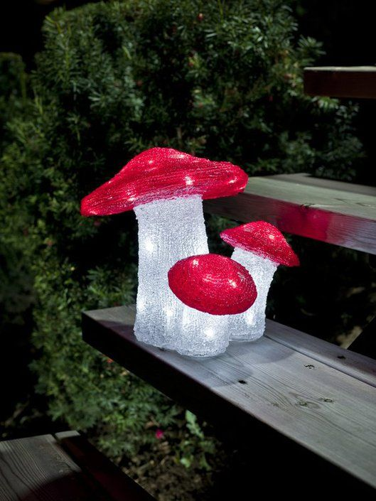 Konstsmide LED-paddestoelenset acryl