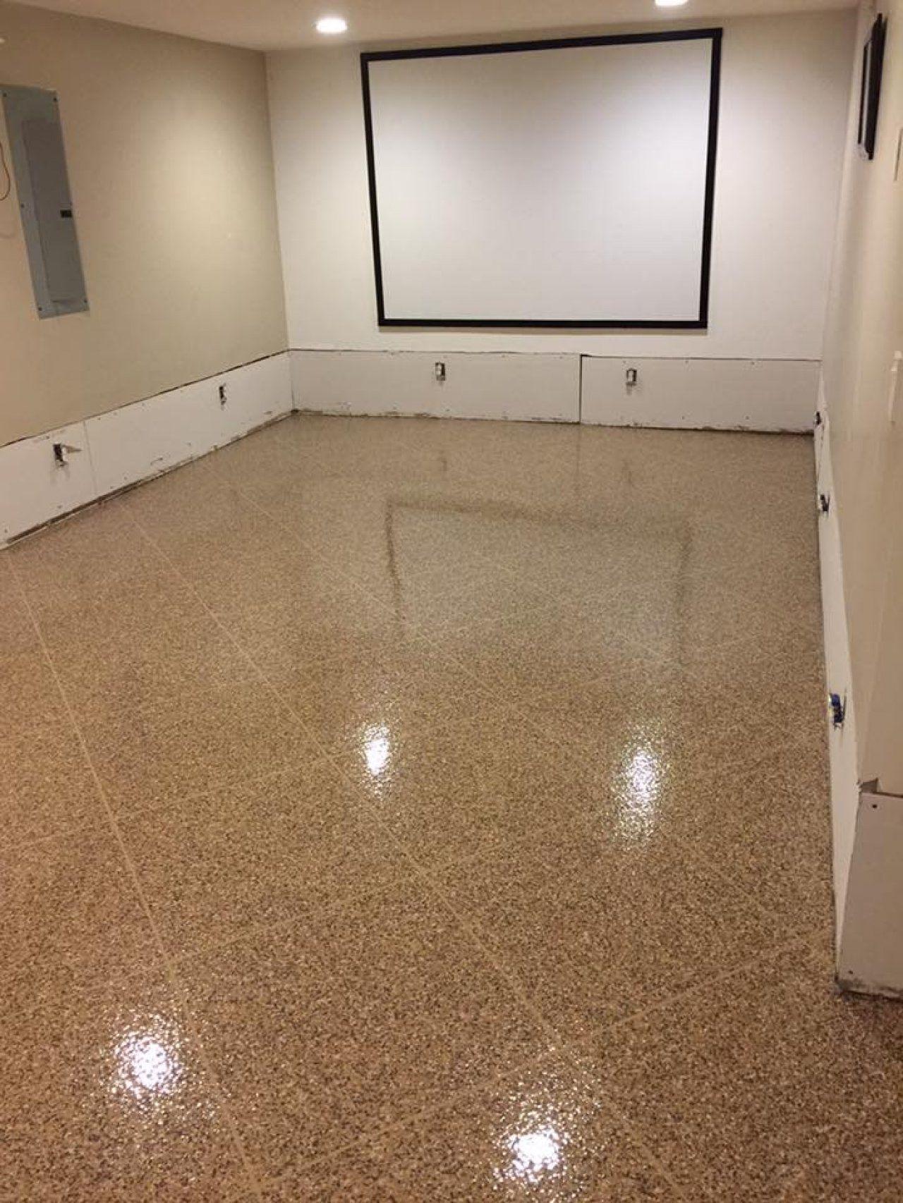 epoxy tile flake basement in findlay ohio ohio decorative rh pinterest com