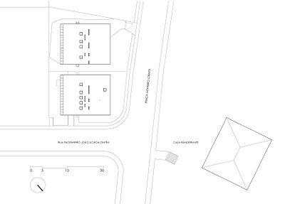 Planos residencia Butanta Mendes da Rocha