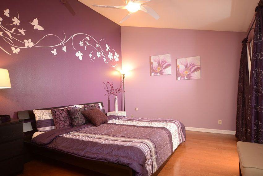 25 Gorgeous Purple Bedroom Ideas Purple Bedrooms Purple Bedroom Decor Bedroom Wall Paint