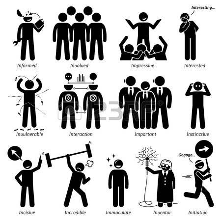 pictogram people positive personalities character traits