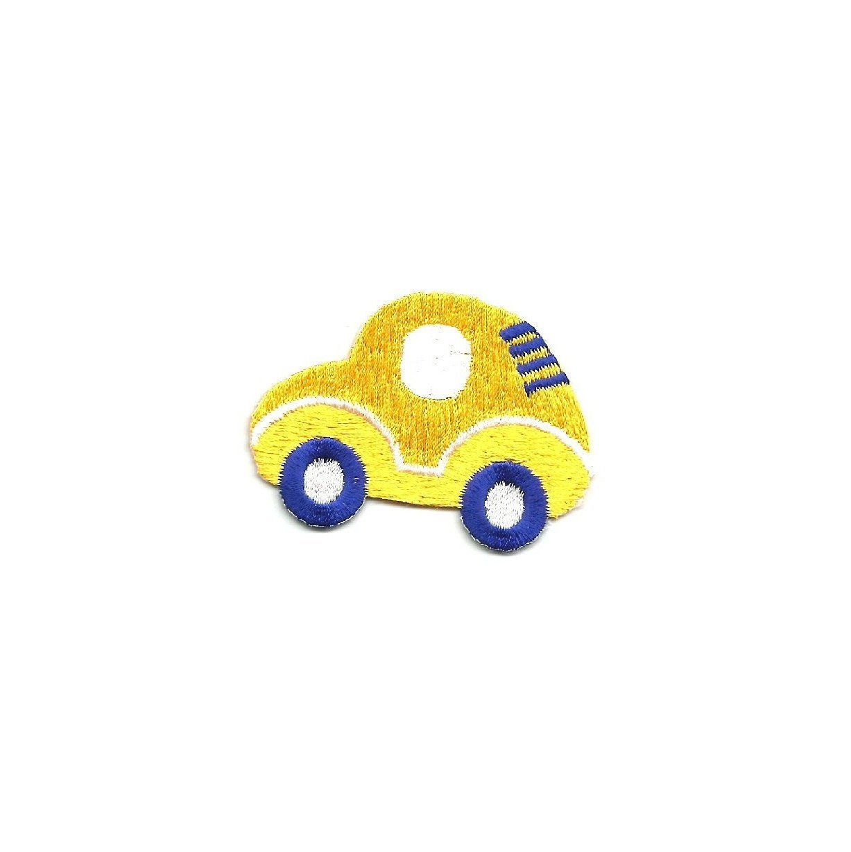 Embroidered Yellow Toy Crafts Boys Car Iron On Patch