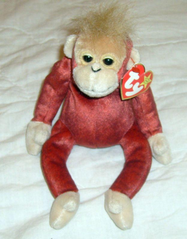 TY Original Beanie Baby SCHWEETHEART the Orangutang  40c87c8528