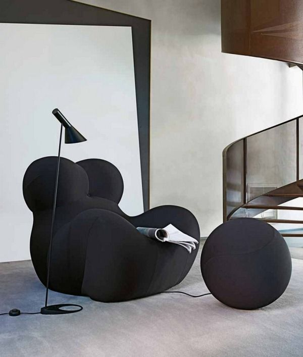 chair stool italia round shapes relax polyurethane foam b b b rh pinterest de