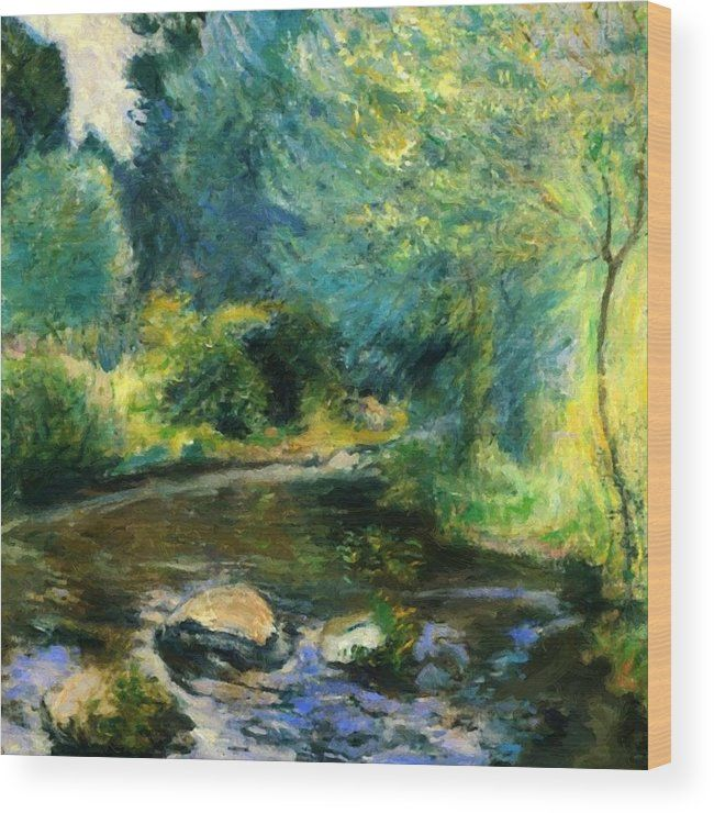977fe52fbc6d8 John Twachtman Spring Stream hand painted oil painting reproduction on  canvas by artist