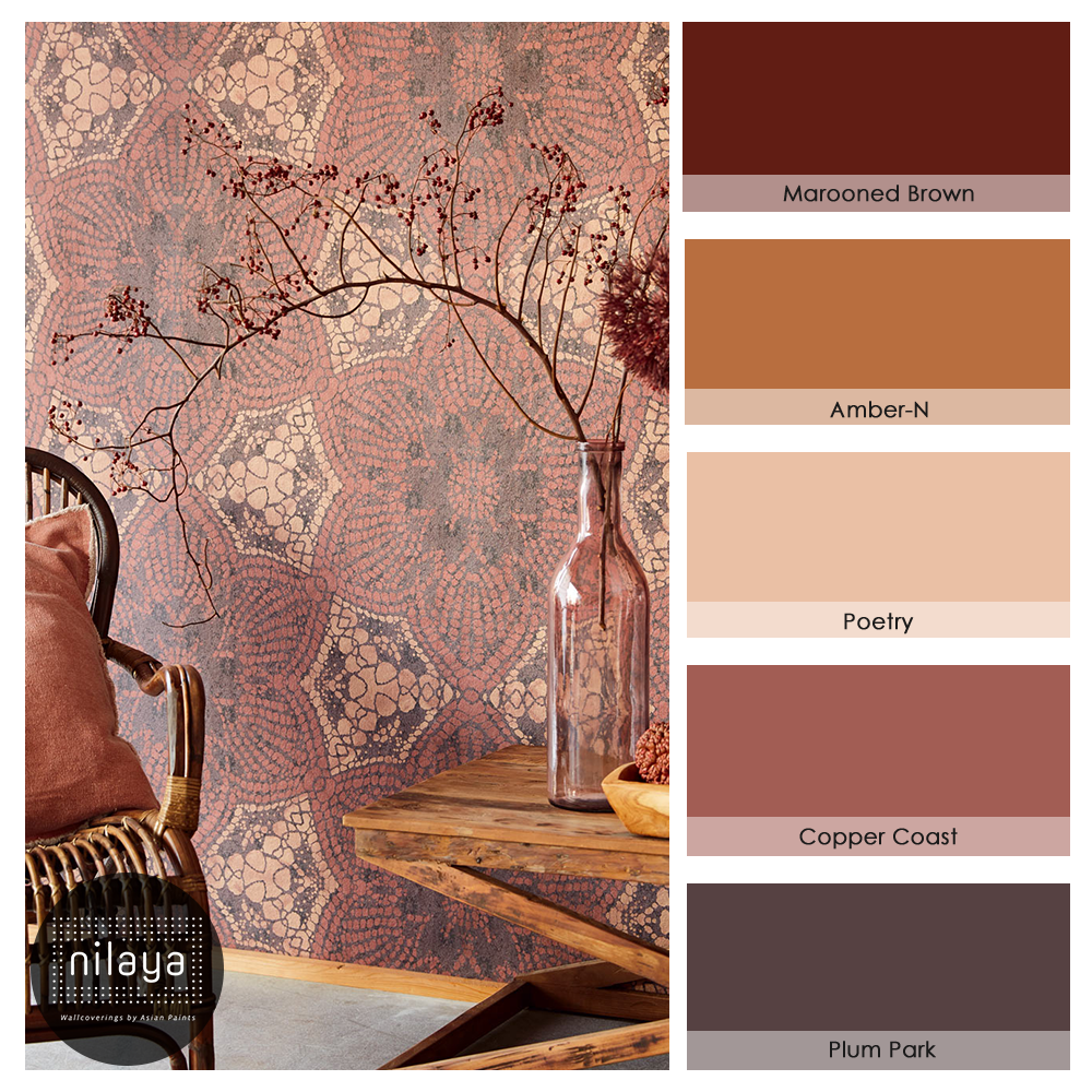 Colourpalette Red Homedecor Asian Paints Colour Shades Warm