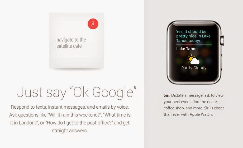 Apple Watch Siri Dan Android Wear Voice Search Gadget