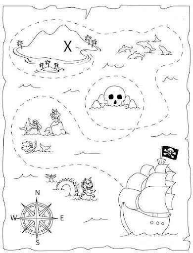 Mapa Pirata Mapas De Piratas Artesanias De Piratas Mapa Del Tesoro Pirata