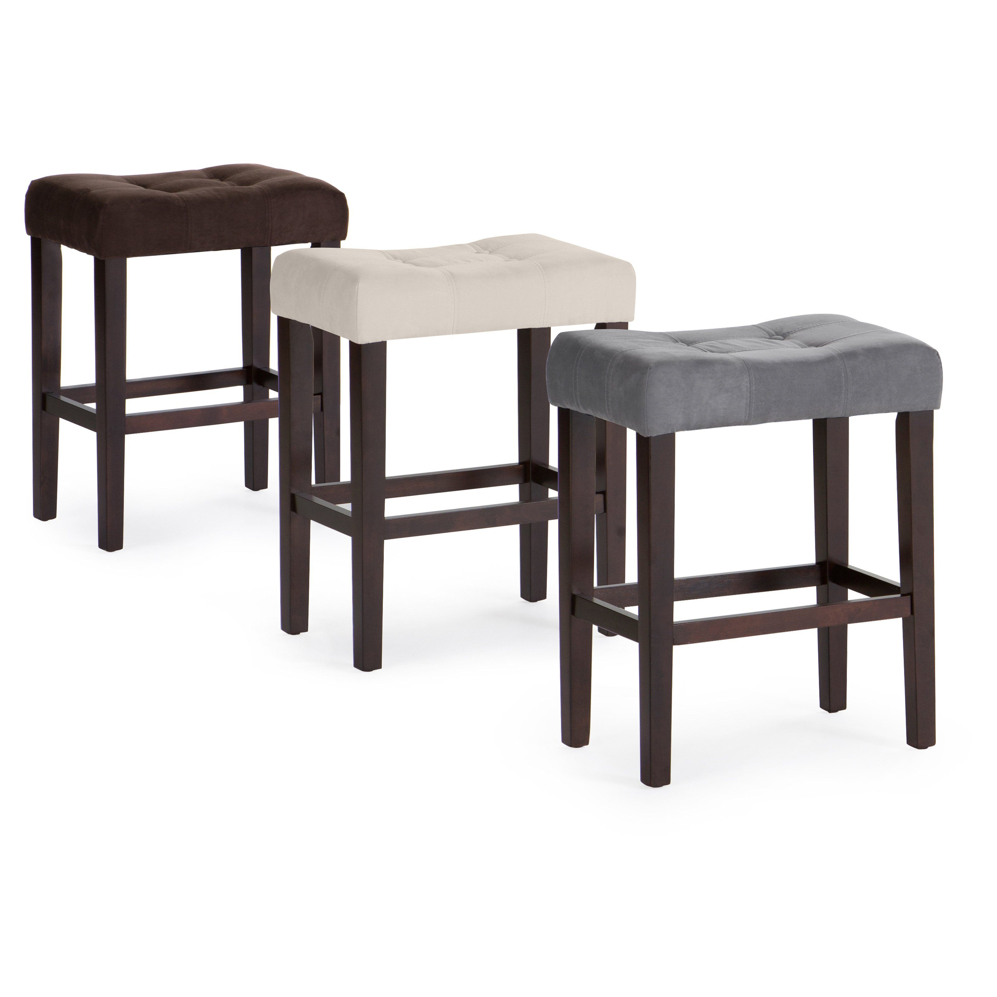 Palazzo 26 Inch Saddle Counter Stool Casual fort and