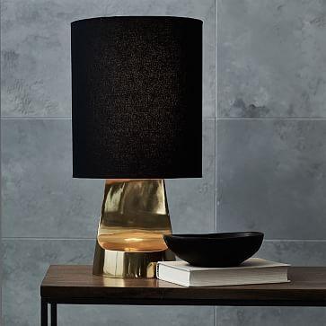 sculptural metal table lamp small lighting pinterest metal rh pinterest com