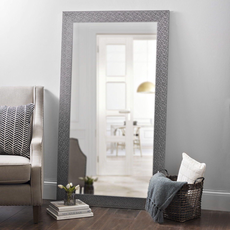 Product Details Metallic Silver Blocks Framed Mirror