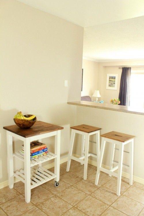 diy bosse stools and bekv m kitchen cart hacks via shelterness rh pinterest com