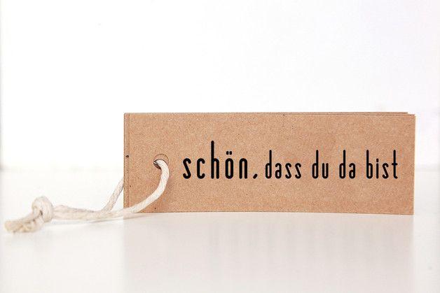 """Gastgeschenke - Geschenkanhänger Kraftpapier """"Schön, dass ... - ein Designerstück von reflect-photographie bei DaWanda"""
