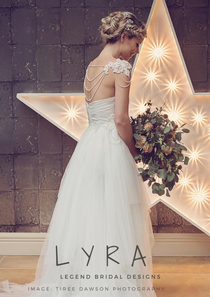Lyra Wedding Gown by Legend Bridal | http://LegendBridalDesigns.co ...