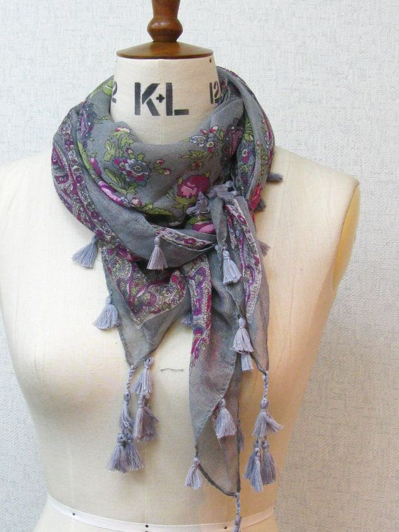 A sheer scarf is probably the best way to add some color