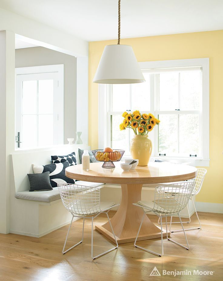 Hawthorne Yellow by Benjamin Moore   Mood-Boosting Paint Colors   POPSUGAR Home Photo 7 & Hawthorne Yellow by Benjamin Moore   Modern Coastal Design ...