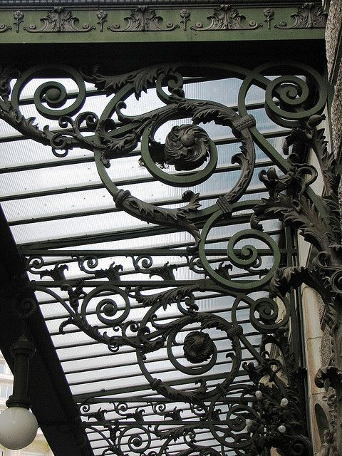 Parisi Iron Canopy Bracket | Iron art, Wrought iron fences ...