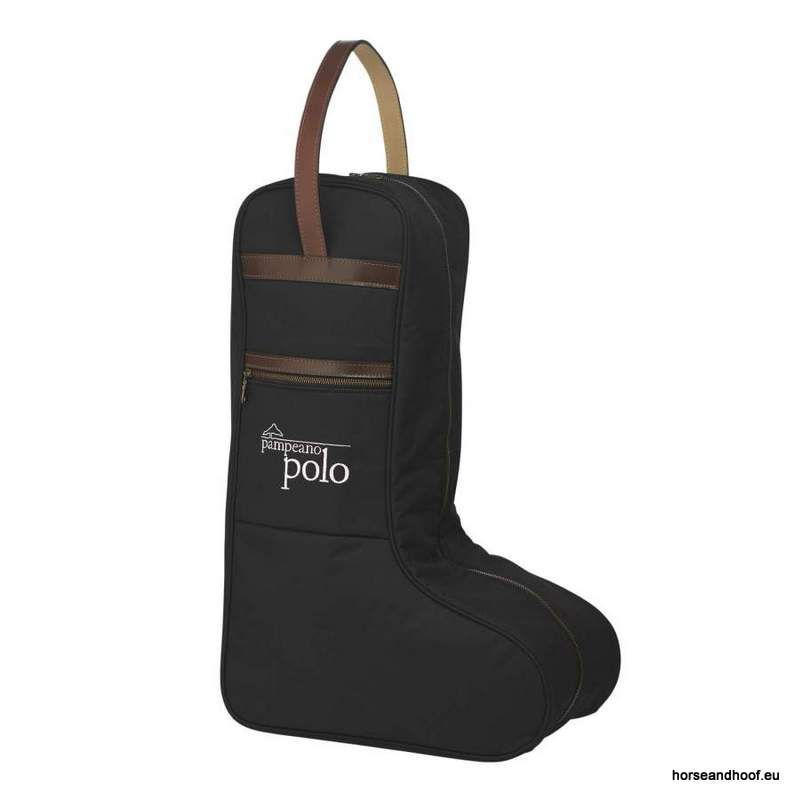 Pampeano Canvas and Leather Polo Boot Bag - Black A luxurious addition to  you… 018c1cd191978