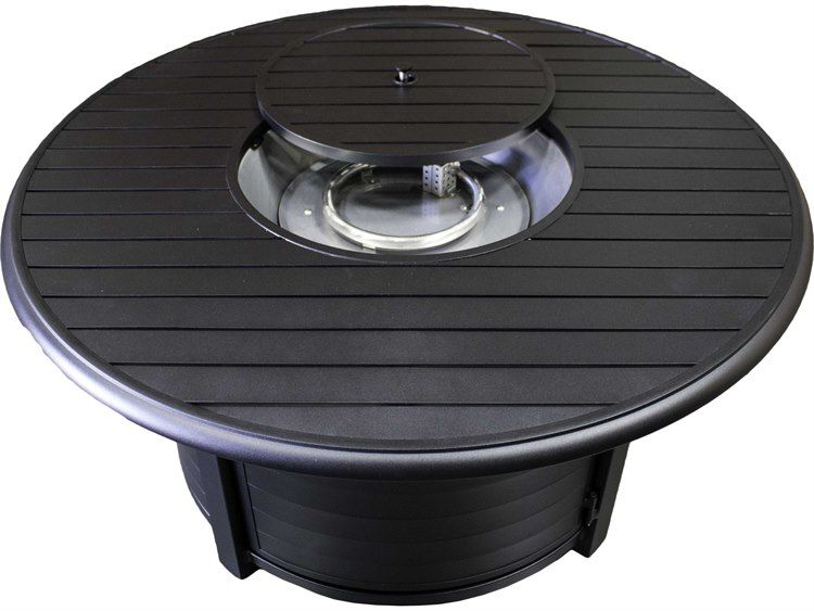 Az Patio Heaters 48 Wide Round Slatted Aluminum Firepit Patio Heater Outdoor Heating Fire Pit