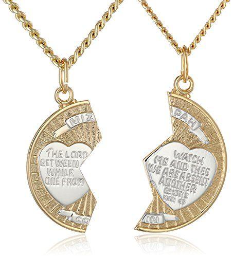 14k goldfilled twotone round mizpah pendant necklace with stainless 14k goldfilled twotone round mizpah pendant necklace with stainless steel chains 20 and 24 aloadofball Choice Image