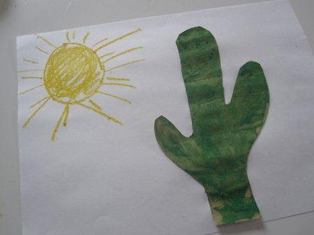 Sand Paper Cactus Craft #cactuscraft