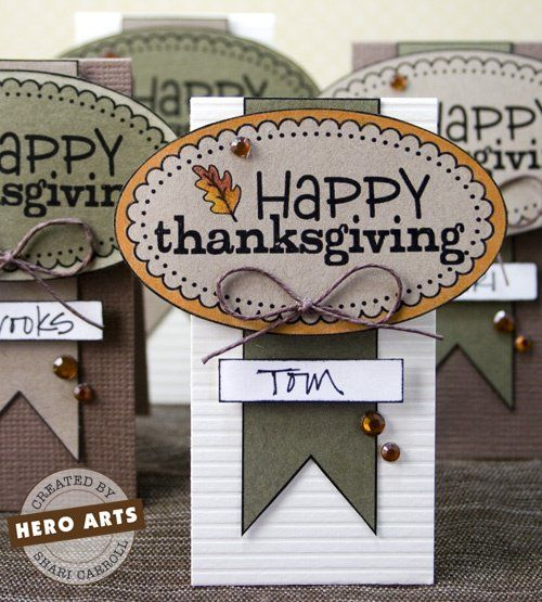 27 Cheerful DIY Thanksgiving Place Cards #thanksgiving #crafts #table #DIY #easy #cards