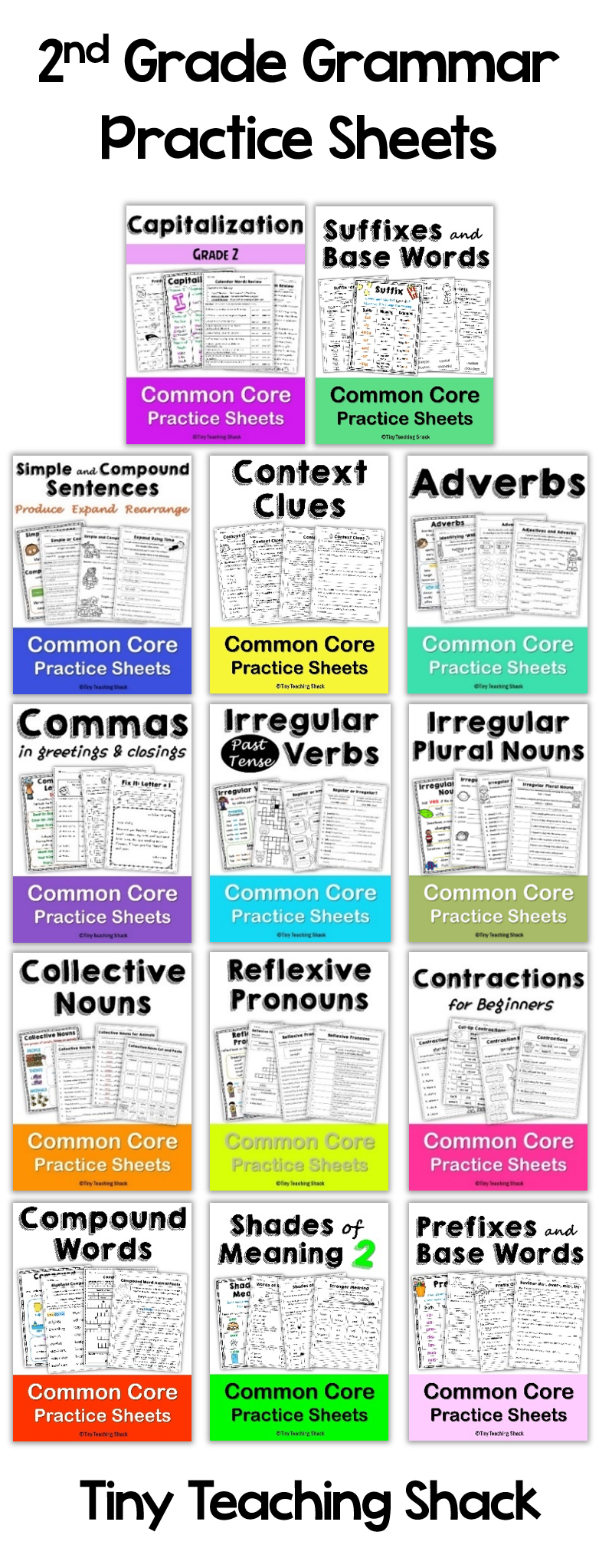 second grade language arts grammar practice sheets/ great for extra ...