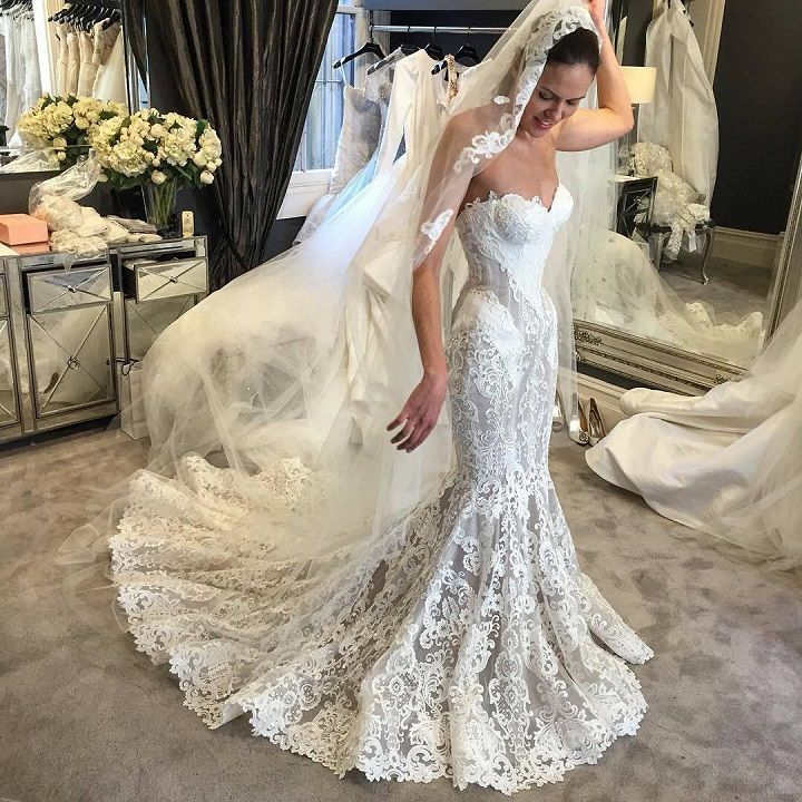 Gorgeous Strapless Mermaid Wedding Dresses