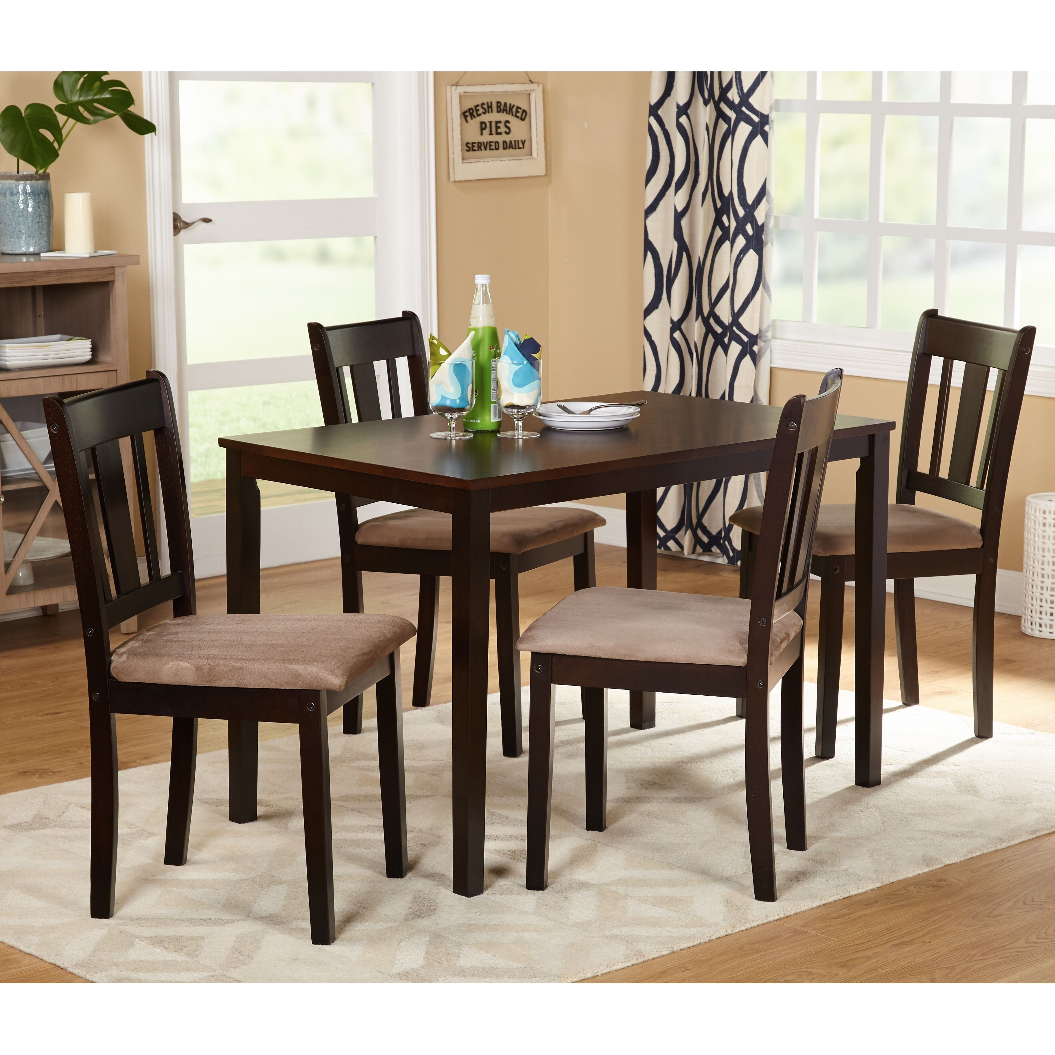 Apartment Size Dining Room Sets: Simple Living Stratton 5-Piece Dining Set, Brown, Size 5