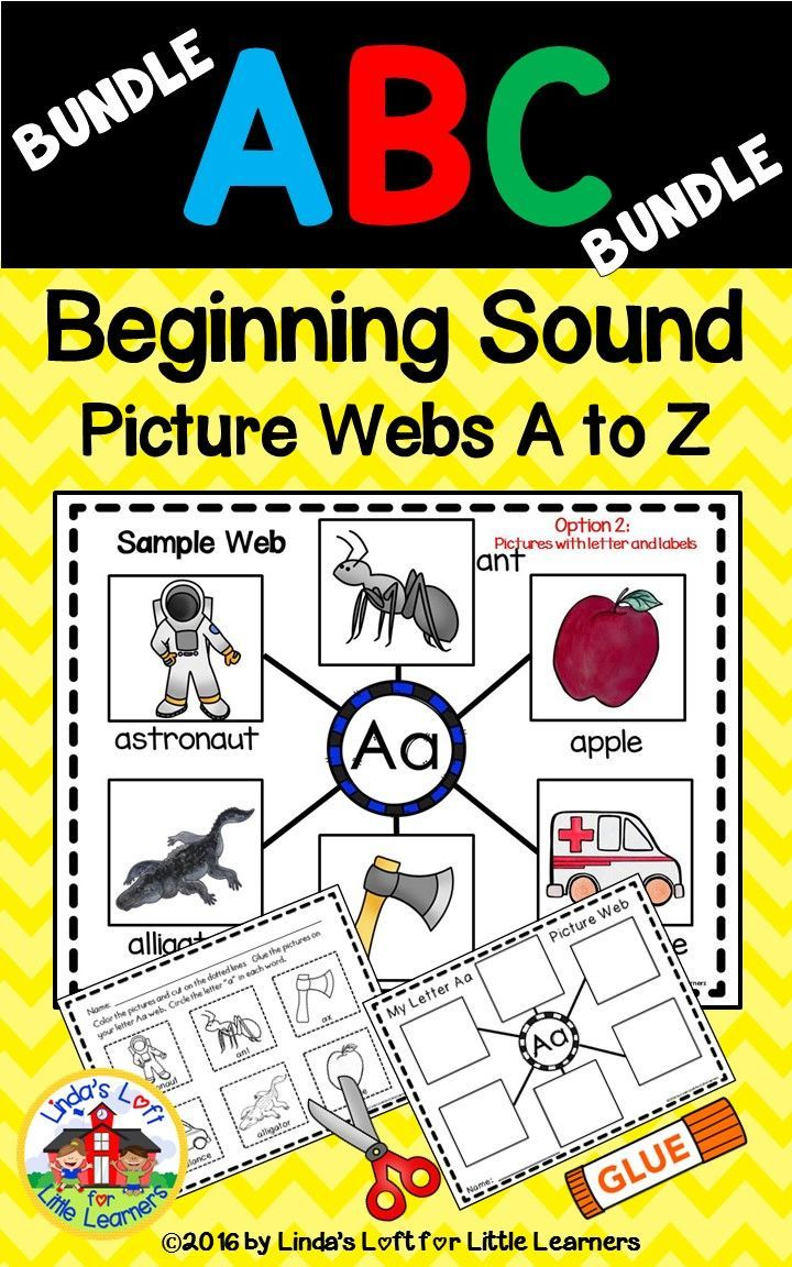Alphabet Letter of the Week A to Z Beginning Sound Picture